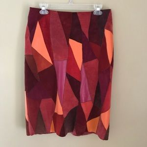 Vintage Anthropologie suede/leather skirt